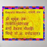 Gayatri n OM Mantra by Naveen Joshi Poster