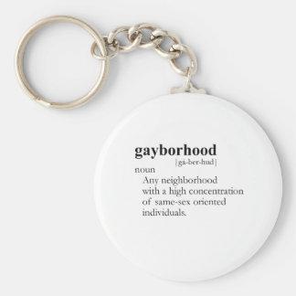 GAYBORHOOD / GAY SLANG T-SHIRT KEYCHAIN