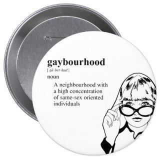 GAYBOURHOOD BUTTON