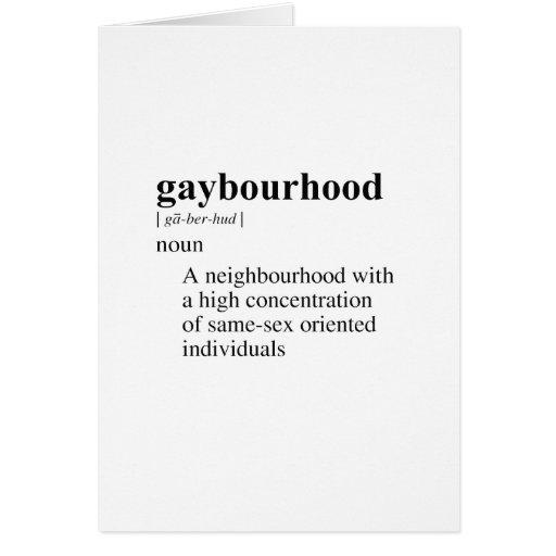 GAYBOURHOOD GREETING CARD