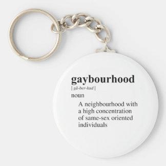 GAYBOURHOOD KEY CHAIN