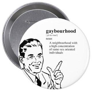 GAYBOURHOOD PINBACK BUTTON