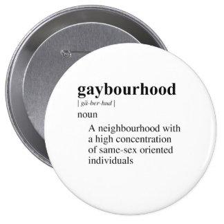 GAYBOURHOOD PINBACK BUTTONS