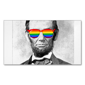 Gaybraham Lincoln Magnetic Business Cards (Pack Of 25)
