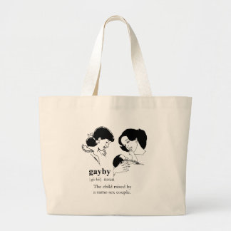 GAYBY (Lesbian) Large Tote Bag