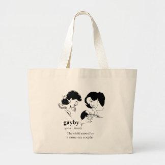 GAYBY (Lesbian) Large Tote Bag