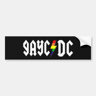 GayC/DC en negro Pegatina De Parachoque