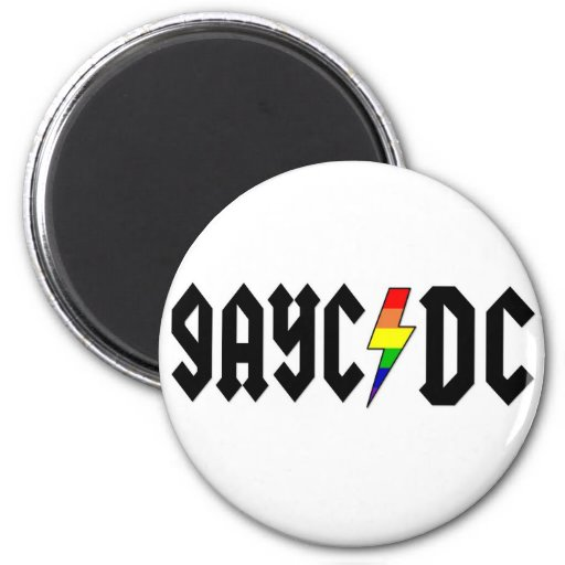 GayC/DC Imán Redondo 5 Cm