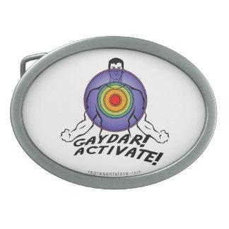 Gaydar! Activate! Rainbow Gay Belt Buckle