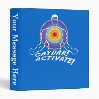 Gaydar! Activate! Rainbow Gay Vinyl Binders