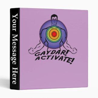 Gaydar! Activate! Rainbow Gay Binder