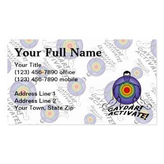 Gaydar! Activate! Rainbow Gay Business Card