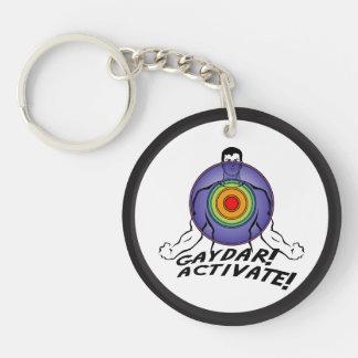 Gaydar! Activate! Rainbow Gay Keychain