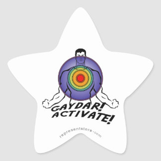 Gaydar! Activate! Rainbow Gay Star Sticker