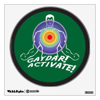 Gaydar! Activate! Rainbow Gay Wall Sticker