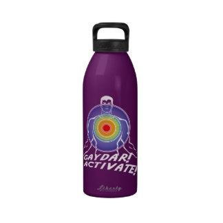 Gaydar! Activate! Rainbow Gay Reusable Water Bottles