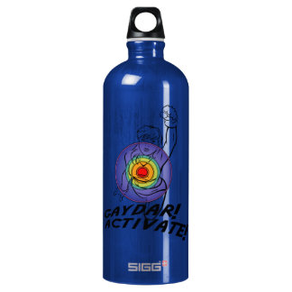Gaydar! Activate! Rainbow Lesbian Aluminum Water Bottle