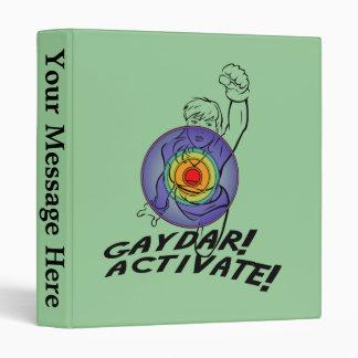 Gaydar Activate Rainbow Lesbian Binder