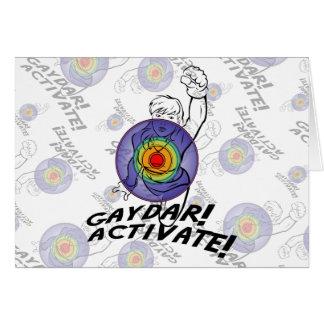 Gaydar! Activate! Rainbow Lesbian Card