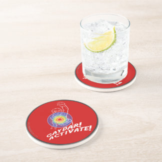Gaydar! Activate! Rainbow Lesbian Beverage Coasters