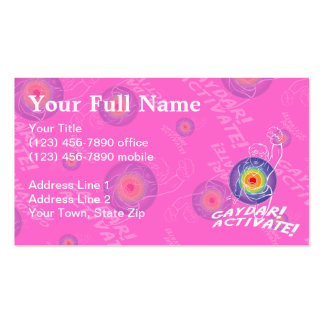 Gaydar! Activate! Rainbow Lesbian Double-Sided Standard Business Cards (Pack Of 100)