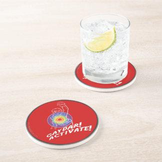 Gaydar! Activate! Rainbow Lesbian Drink Coaster