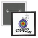 Gaydar! Activate! Rainbow Lesbian Pin