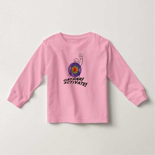 Gaydar! Activate! Rainbow Lesbian Shirts