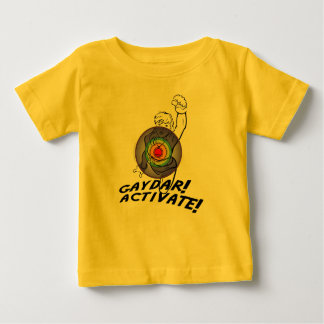 Gaydar! Activate! Rainbow Lesbian T Shirt