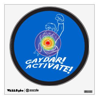 Gaydar! Activate! Rainbow Lesbian Wall Sticker