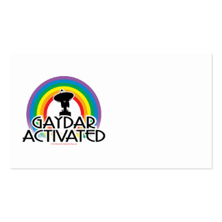 Gaydar Activated Business Card