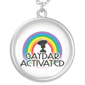 Gaydar Activated Silver Plated Necklace