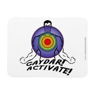 ¡Gaydar ¡Active Gay del arco iris Imanes Rectangulares
