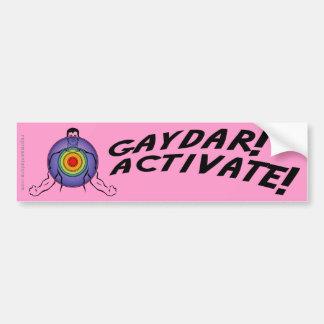 ¡Gaydar! ¡Active! Gay del arco iris Pegatina Para Auto