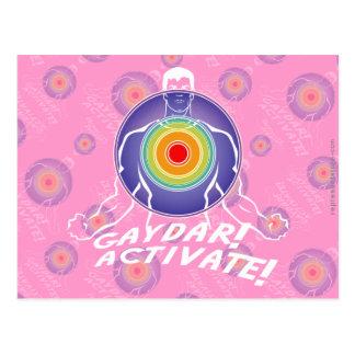 ¡Gaydar! ¡Active! Gay del arco iris Postal