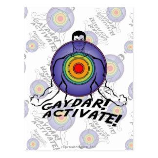 ¡Gaydar! ¡Active! Gay del arco iris Postales