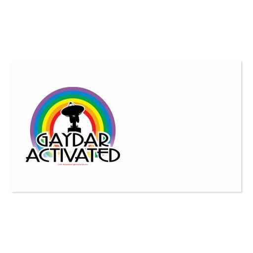 Gaydar activó tarjetas de visita