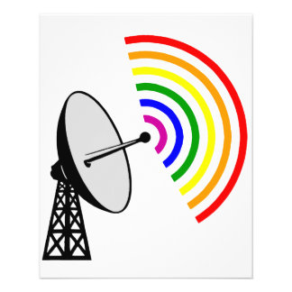 Gaydar Gay Rainbow LGBT Radar Flyer
