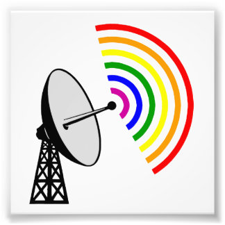 Gaydar Gay Rainbow LGBT Radar Photographic Print