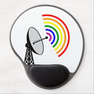 Gaydar Gay Rainbow Radar Gel Mousepads