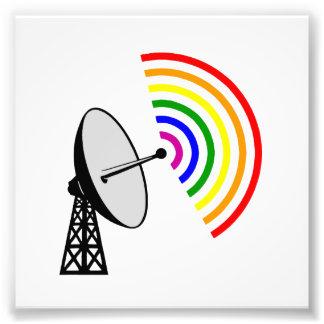 Gaydar Gay Rainbow Radar Photo Print