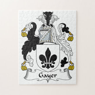 Gayer Family Crest Puzzle
