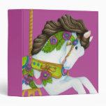 Gayle Carousel Horse Avery Binder