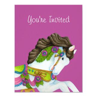 Gayle Carousel Horse Invitation