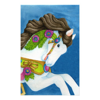 Gayle Carousel Horse Stationery