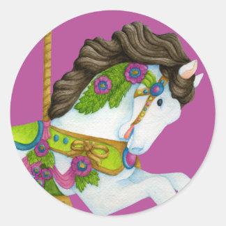 Gayle Carousel Horse Sticker