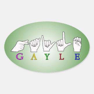 GAYLE NAME ASL FINGER SPELLED FEMALE STICKERS
