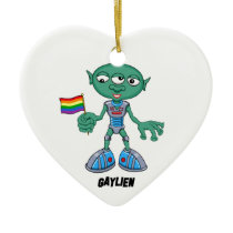 Gaylien (The Hollyweirdos) Ceramic Ornament
