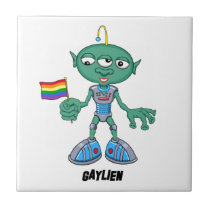 Gaylien (The Hollyweirdos) Ceramic Tile
