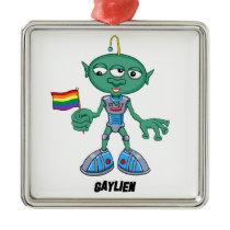 Gaylien (The Hollyweirdos) Metal Ornament